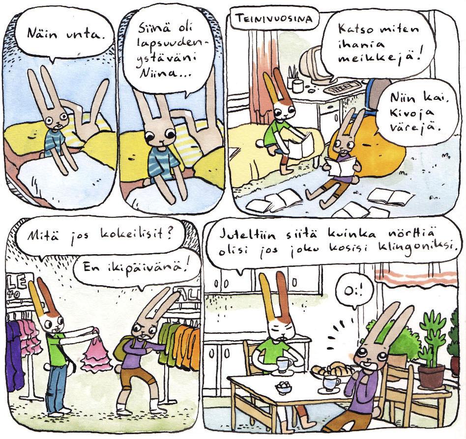 heta harmaan pupun päiväkirja sarjakuvablogi