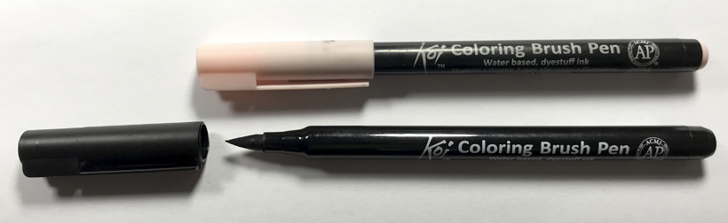 sivellinkyna9 koi coloring brush pen sarjakuvablogit