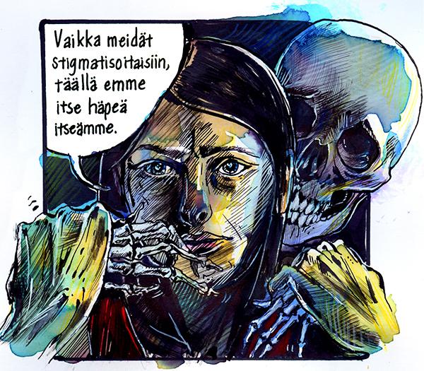 viivi rintanen sarjakuvablogi sarjakuva mielenterveys hulluus